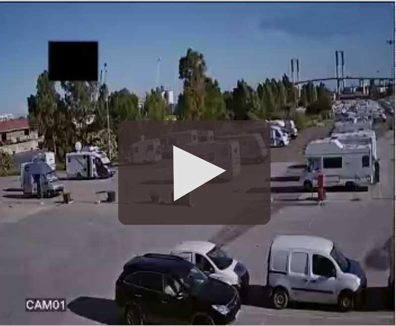 Webcam en el Área de Autocaravanas de Sevilla