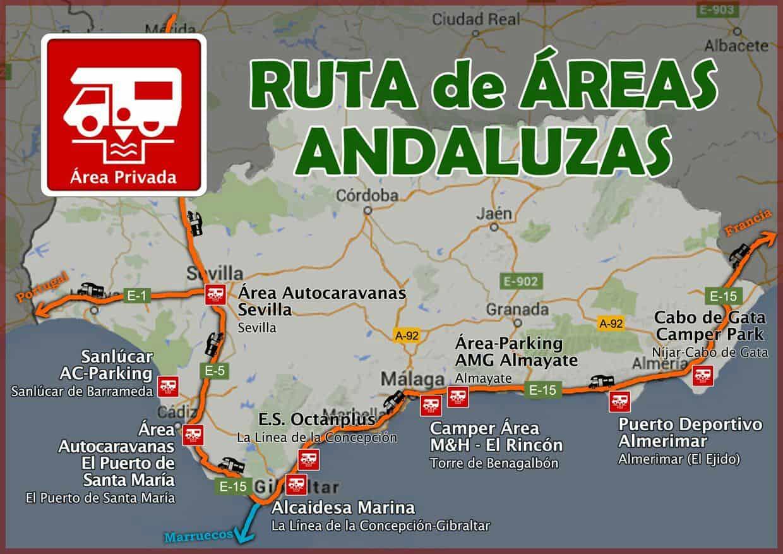 Ruta de reas de autocaravanas por andaluc a areas - Ruta por andalucia ...