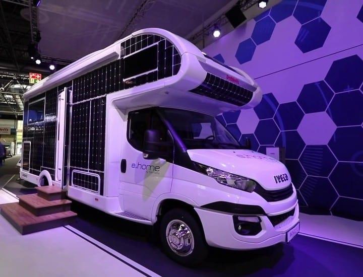 Dethleffs presentó e.home la primera autocaravana solar