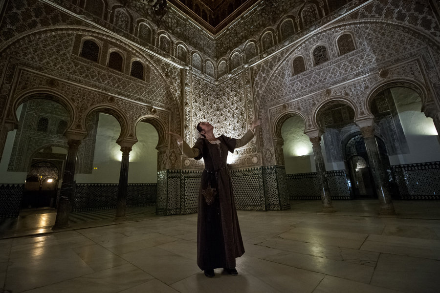 Séville, la Nuit visites Théâtralisées dans l'Alcázar de séville