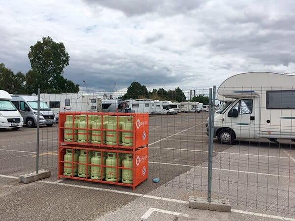 L'élargissement de l'Aire de camping-cars de Séville Centre