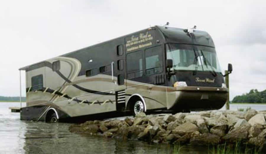 amphibious motor home