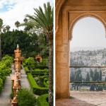 Alhambra em Granada e Alcázar em Sevilha