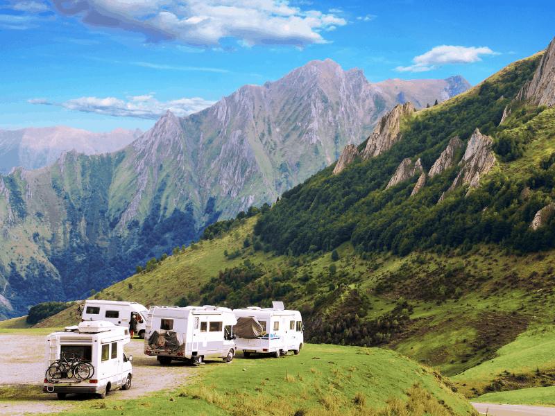 rutas de montaña en autocaravana