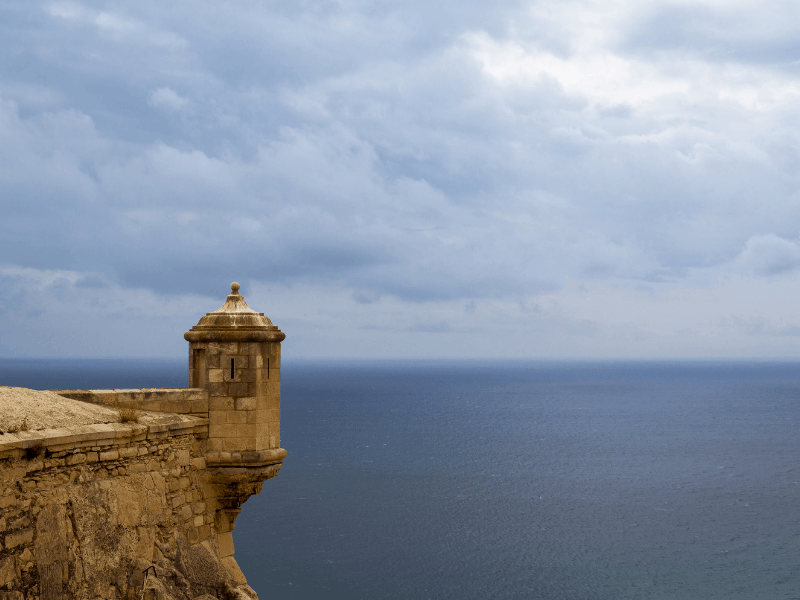 castle of santa barbara on the costa blanca